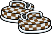 Brown Checkered Shoes icon