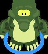 Crock Costume in-game