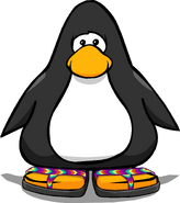 Rainbow Sandals on a Player Card
