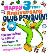 Newspaper Issue 156 anniversary invitation