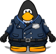 Police Gear from a Player Card