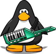 Green Keytar from a Player Card