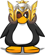 Odin Helmet from a Player Card