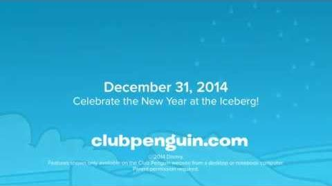 New Year's Fireworks 2014 - Disney Club Penguin