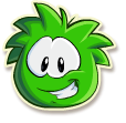 Green puffle selected