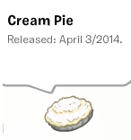 Cream pie pin