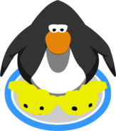 Yellow Puffle Slippers in-game