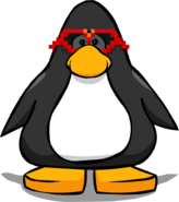 Red Pixel Glasses on a Player Card