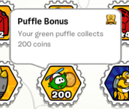 Puffle bonus stamp book
