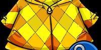 Golden Quilted Coat