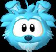 Blue dog 3d icon