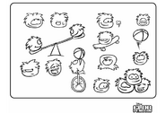 Old 2006 Puffle Coloring Page