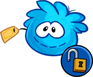 Blue Puffle Stuffie unlockable icon