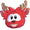 Red deer 3d icon