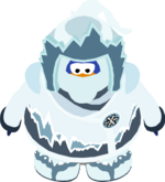 Snow suit in-game