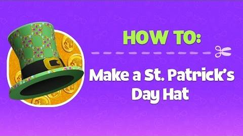 How-To St. Patrick's Day Hat Disney Club Penguin Island