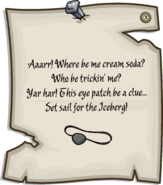 Island Adventure Party 2011 Eye Patch Pin note