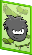 Black Puffle Poster sprite 003