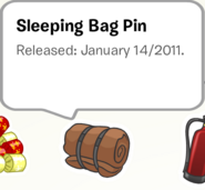 Sleeping Bag Pin Stampbook