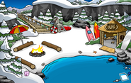 Pink Puffle Pin location