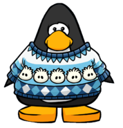 Puffle Pullover from a Player Card
