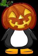 Glowing Pumpkin Head on a Player Card