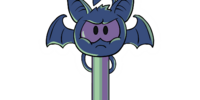 Puffle Bat Key Pin