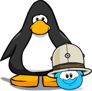 Safari Hat (Puffle Hat) on Player Card