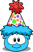 Mini Polka Dot Puffle Hat in Puffle Interface