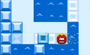 Ice block in thin ice