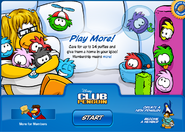 Puffle Party 2009 login screen