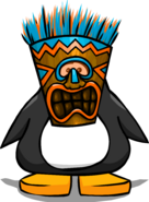 Blue Tiki Mask from a Player Card