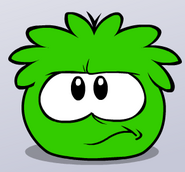 Angry Green Puffle