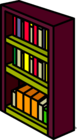 Burgundy Bookshelf sprite 006