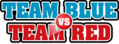 Team Blue vs Team Red Logo