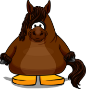 Horse Costume on Player Card