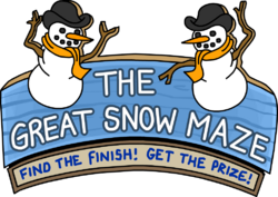 The Great Snow Maze sign