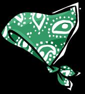 Green Paisley Bandana clothing icon ID 1005