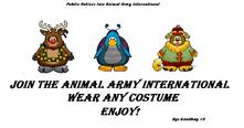 Club Penguin Animal Army Internatioan Poster 2
