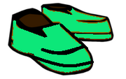 Green shoes