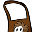 Brown Puffle Apron