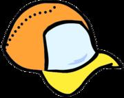 Orange Ball Cap by MC25