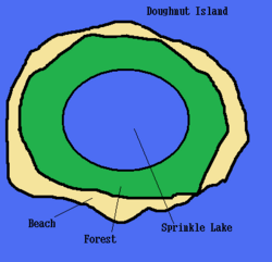 Doughnut Island map