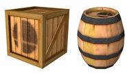 Barrel and Crate