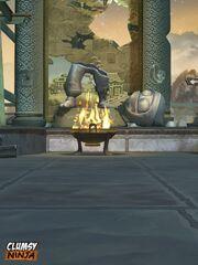 Image broken statue-the temple