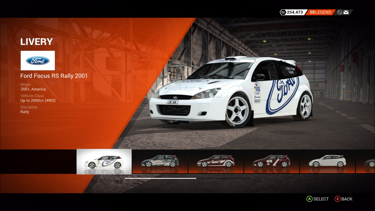 DiRT 4 Ford Focus RS Rally 2001