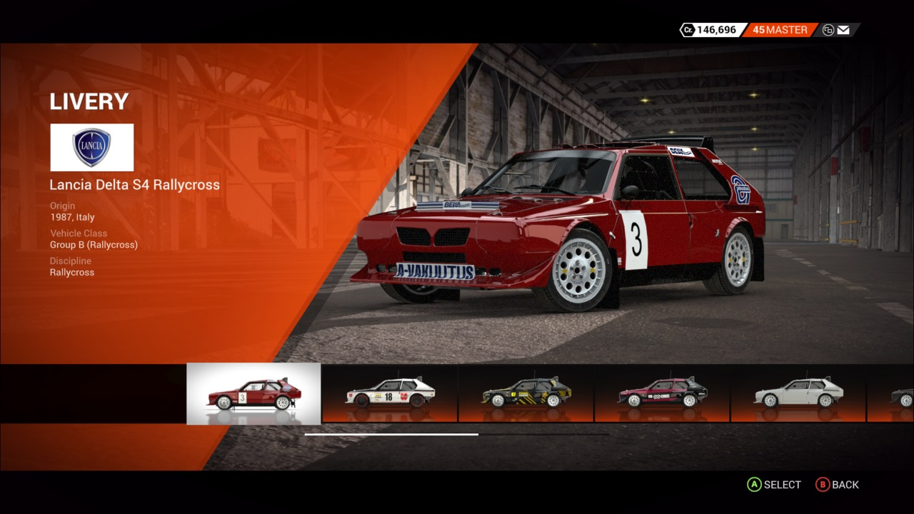 DiRT 4 Lancia Delta S4 Rallycross