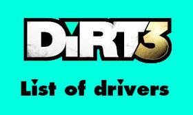 Dirt3 drivers logo