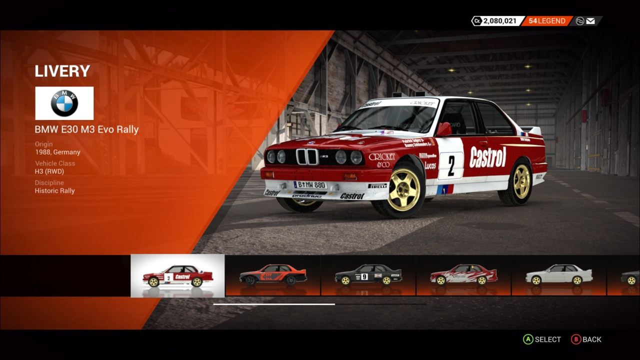 DiRT 4 BMW E30 M3 Evo Rally