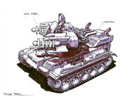 RA2 Tesla Tank Concept Art